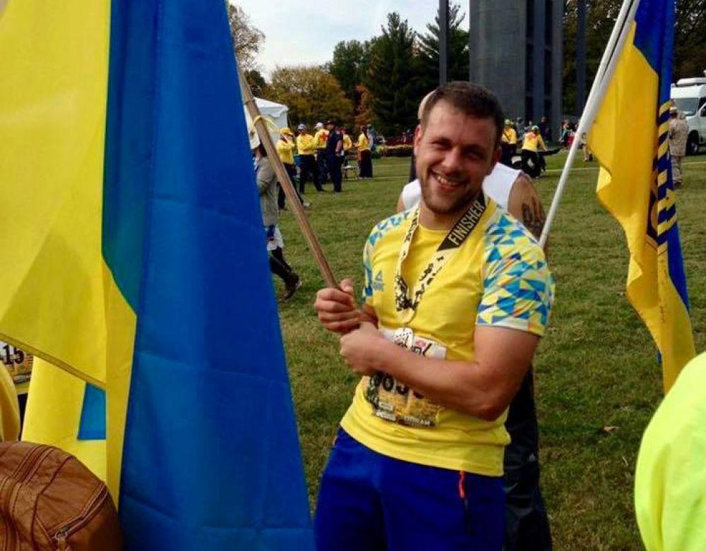 Дмитро Фесенко на першому марафону в 2016 році (Фото Вікторії Цимбал)