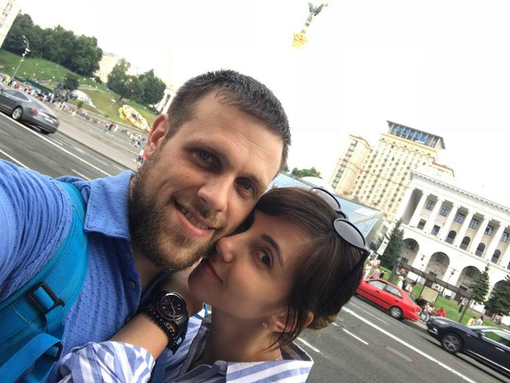 Дмитро Фесенко разом з дружиною Вікторією (Фото Вікторії Цимбал)